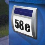 Solcelledrevet Wave husnummerbelysning