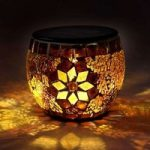 Solcelledrevet Brillant mosaiklygte i varmhvid