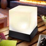 Cube – dekorativ bordlampe med solcellemodul