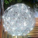 Udendørs deko-lampen LED solcelle alu-Wireball