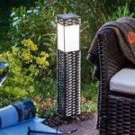 LED-solcelle stående lampe Rattan – universalhvid