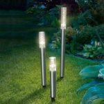 LED-solcelle lysstave Trio Sticks, sæt m 3