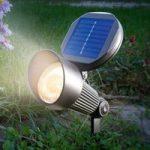 Solcellespot Spotlight med varmhvidt LED lys