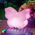 LED solcellelampe Butterfly farveskift funktion
