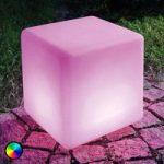 LED solcelleterning Mega Cube farveskift funktion