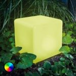 Smart Cube – LED solcelleterning med farveskift