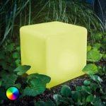Smart Cube – LED solcelleterning med farveskift