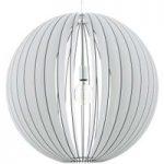 Imponerende hængelampe Cossano m. trælameller