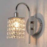 Smuk LED-væglampe Almonte m. glasvedhæng, IP44