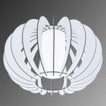 Stellato – rund træ-loftlampe i hvid