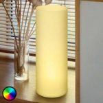 Rørformet bordlampe Elluno-C LED RGBW