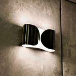 Glansfuld FOGLIO væglampe, sort