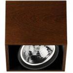 Kvadratisk Compass Box loftlampe, wenge