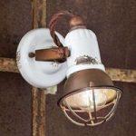 Væglampe C1675/1 med kurv, 1 lyskilde, hvid