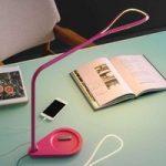 Pinkfarvet LED-bordlampe Kinx