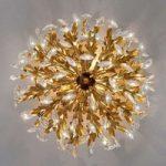 Flot krystal loftslampe Guel