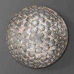 Med rosendekor – loftslampe Mia i sølv, 80 cm
