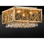 Guld loftslampe Alice med krystaller