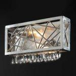 Sølvfarvet krystal væglampe Alice