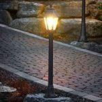 Sort LED gadelampe Mizar Anna, saltvandsresistent