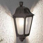 Saltvandsresistent LED udendørsvæglampe Iesse sort