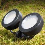 Tommy spot med jordspyd LED rund, sort 10 W