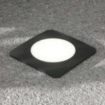 LED-indbygningslampe Ceci 160-SQ 10 W sort