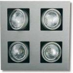 Kvadratisk LED indbygningslampe Multi, svingbar