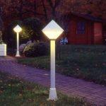 Moderne gadebelysning 177 i hvid