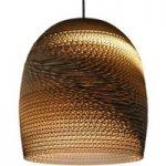 Miljøvenlig hængelampe Bell, lavet af karton