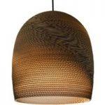 Hængelampe Bell, lavet af karton