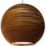 Hængelampe Sun, lavet af karton