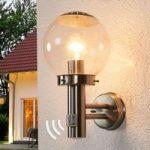 Udendørs væglampe BOWLE med bevægelsesmelder