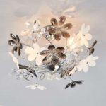 Loftslampen Flower med transparente blomster