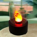 Rund LED dekorationslampe – bordpejs Flame