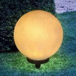 Jordspyd solcellelampe Preeti, 25 cm – sten optik