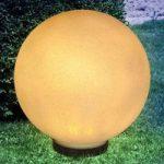 Jordspyd solcellelampe Preeti, 30 cm – sten optik