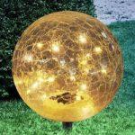 Kugleformet solcelle dekolampe Nurel, 25 cm