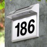 Husnummer solcellevæglampe Regi