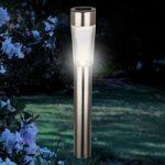 Tajanne – solcellelampe, rustfrit stål, jordspyd