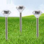 Diamantoptik solcellelampe Landi i 3'er sæt