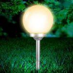 Kugleformet solcellelampe Celyn, 25 cm