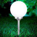 Kugleformet solcellelampe Celyn, 30 cm