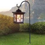 Lanterneformet solcellelampe Eboni i sort