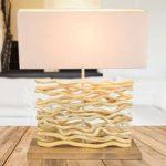 Jamie – en bordlampe med træfod og trædekor