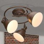 Loftspot Giorgio med 3 lyskilder i rustbrun