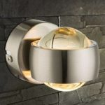 LED væglampe Randi med fantastisk effekt, nikkel