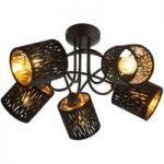 Tuxon – moderne loftlampe i sort-guld
