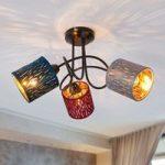 Loftlampe Jules, rød/grå/blå, 3 lyskilder