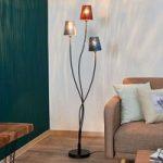 Gulvlampe Jules, rød/grå/blå, 3 lyskilder